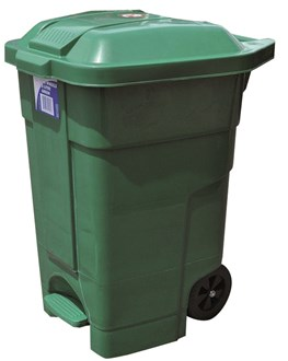 NAMEBIN - HEAVY DUTY - GREEN - WITH WHEELS - 70L