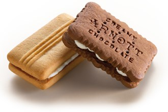 NAMEBISCUIT - ARNOTTS CREAMY CHOCOLATE & SHORTBREAD CREAM - TWIN PACK
